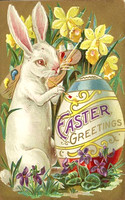 free-vintage-printable-greeting-card-easter-bunny-painting-ornate-easter-egg
